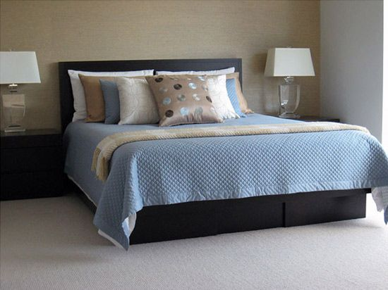 11 best images about home decor bedrooms on pinterest for Brown and cream bedroom ideas