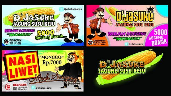 Spanduk THE JASUKE - Design + Cetak Digital Printing Uk 2x1meter