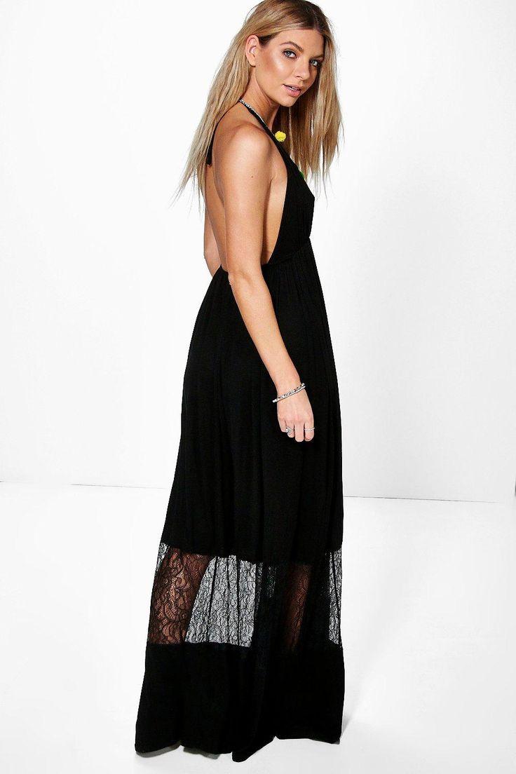Tina Lace Insert Maxi Dress