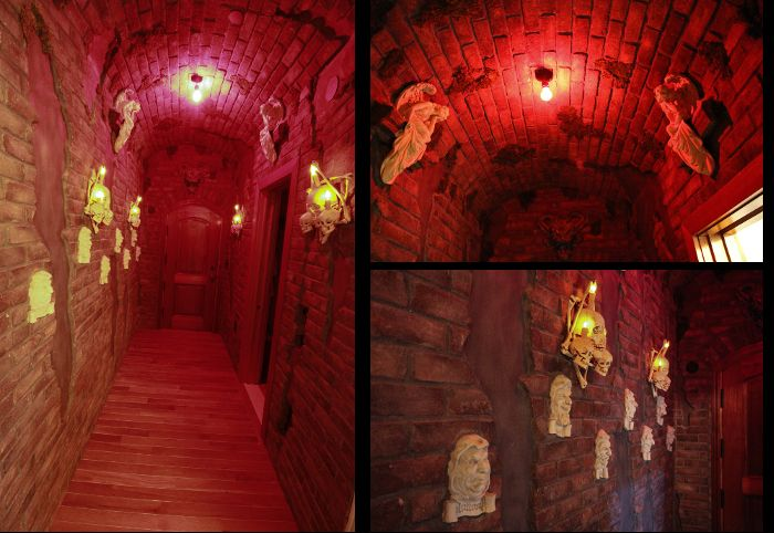 This simulated haunted castle at Adventure Suites is awesome!