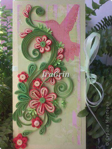 Muurschildering tekening Wenskaart Verjaardag Bruiloft Papier Quilling mijn werk strepen Photo 12