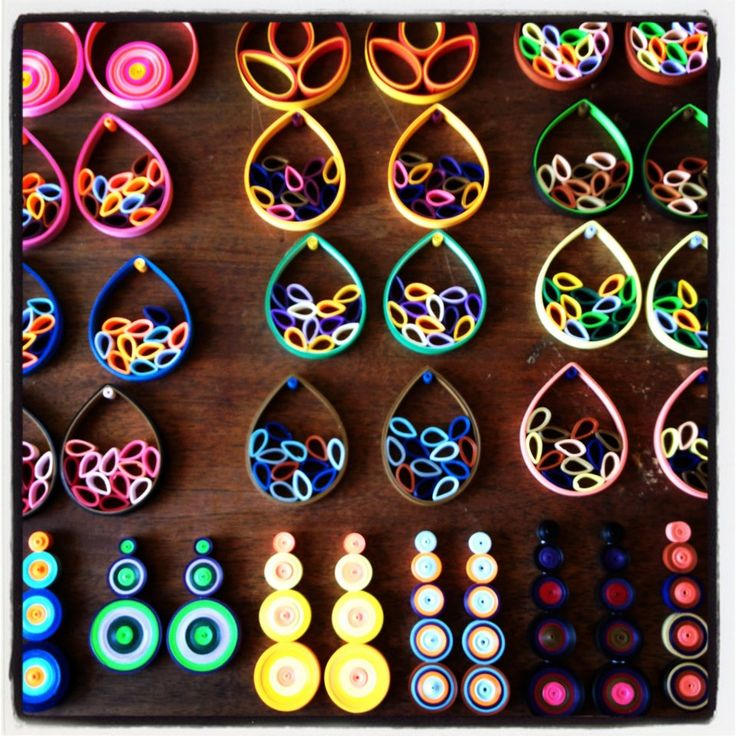 Quilling Earrings Designs Using Comb : 478 best images about Quilling/Origami on Pinterest Quilling comb, Quilled roses and Paper jewelry
