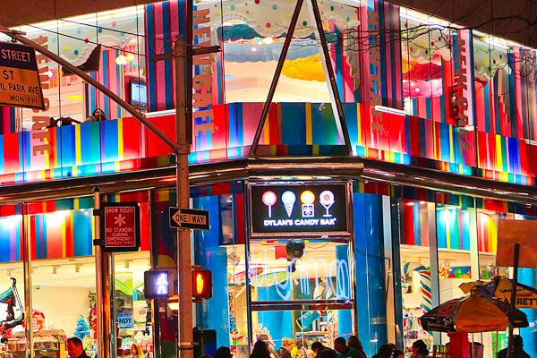 Dylan's Candy Bar in NYC. It is this giant candy store with three entire floors filled with every kind of chocolate and candy you can imagine!