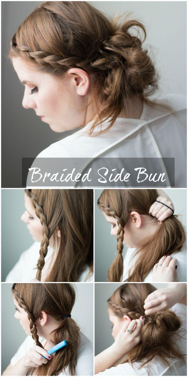 Easy braided side bun.