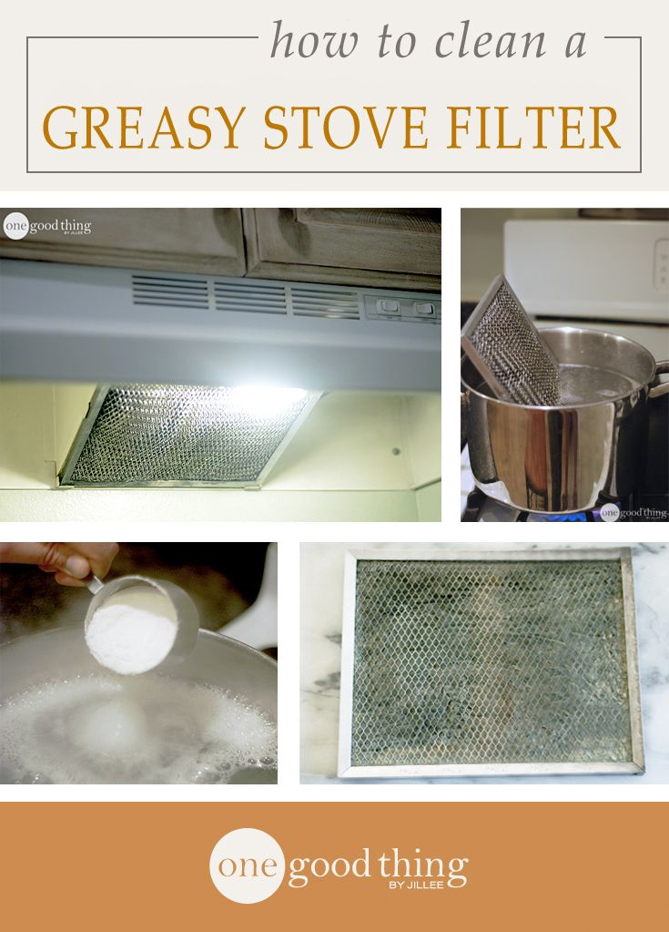 How To Clean A Greasy Stove Hood Filter | Stove, Stove ...