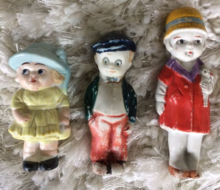 AA Antique Googly Eyes Dolls Lot Bisque Cabinet Frozen Doll Flapper Shabby As Is