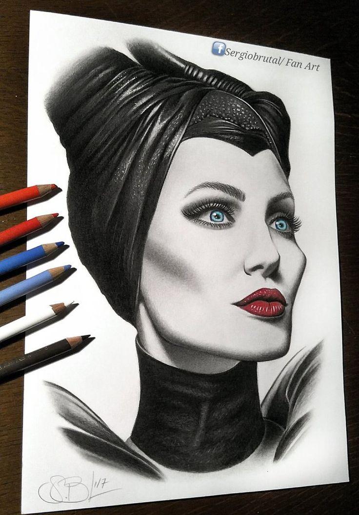 Maleficent Face Drawing | www.pixshark.com - Images ...