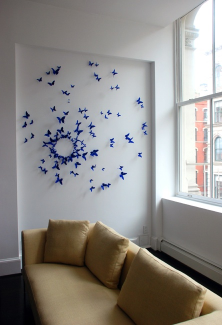 Beer can butterflies by Paul Villinski. I would love to have his work in my home
