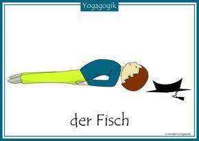 Kinderyoga Flashcards Fisch