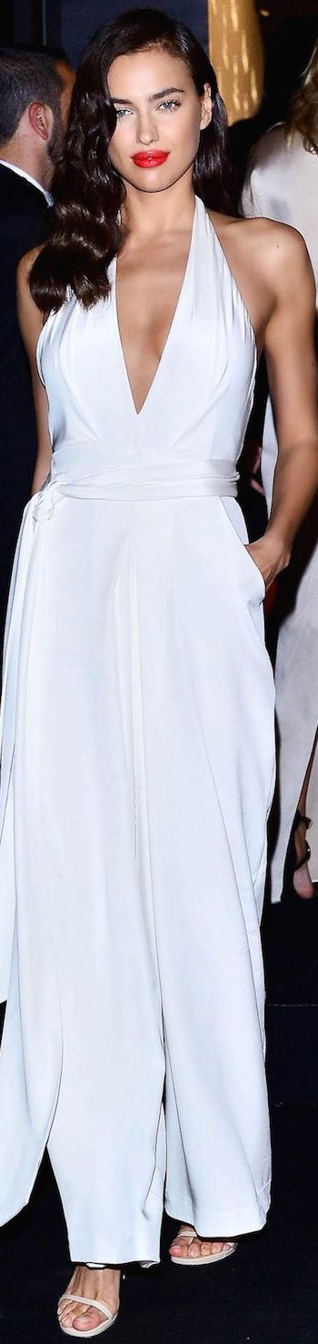 Irina Shayk wearing Misha Nonoo at the 2015 Cannes Film Festival