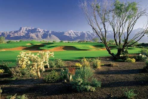The Lost Gold Golf Course is one of 4 courses at Superstition Mountain Golf & Country Club in Arizona! It was designed by Jack Nicklaus and his son! #GolfCourseOfTheDay!   Rock Bottom Golf #RockBottomGolf