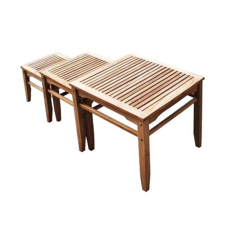 3-Pc. Set of Teak Nesting Tables   dotandbo.com