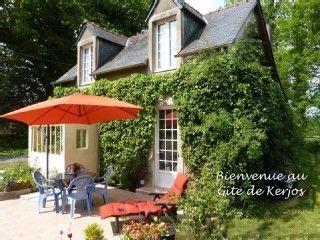 Gite de kerjos ,Finistère, 30 km de Quimper, internet, ANCV, animaux acceptésLocation de vacances à partir de St Goazec @homeaway! #vacation #rental #travel #homeaway