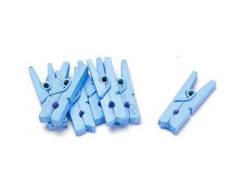 Minitreklyperlyseblå 50-pk. Kan brukes som bordkortholder på glass eller til borddekorasjoner. 2cm.