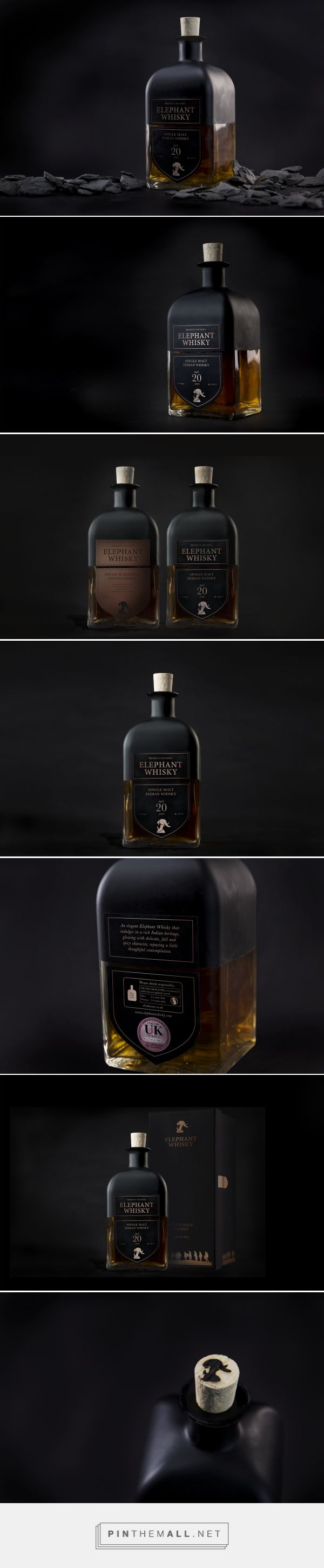 Elephant Whisky student packaging design concept by Evelyn Chee - http://www.packagingoftheworld.com/2018/01/inspire-to-strive-elephant-whisky.html