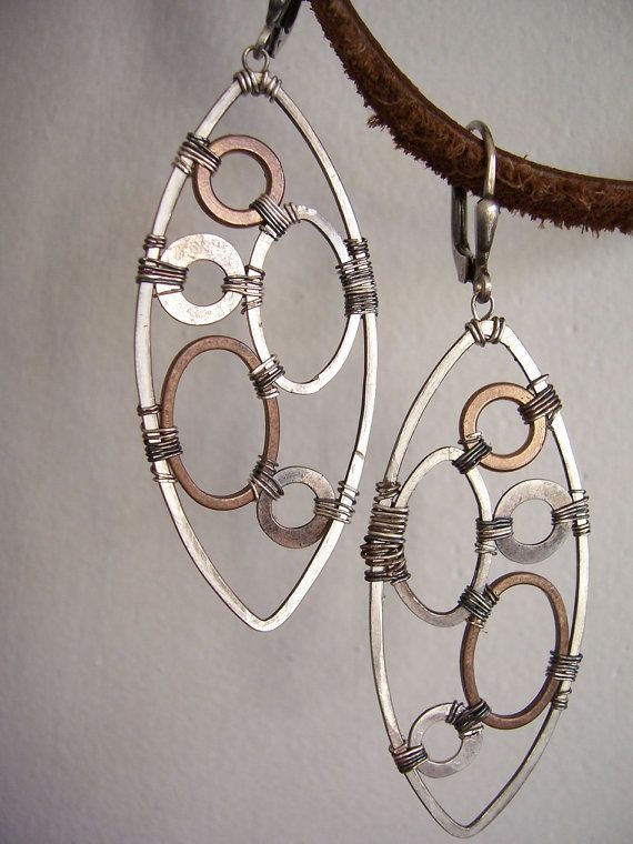 Industrial Evolution Industrial Earrings by dnajewelrydesigns, $55.00