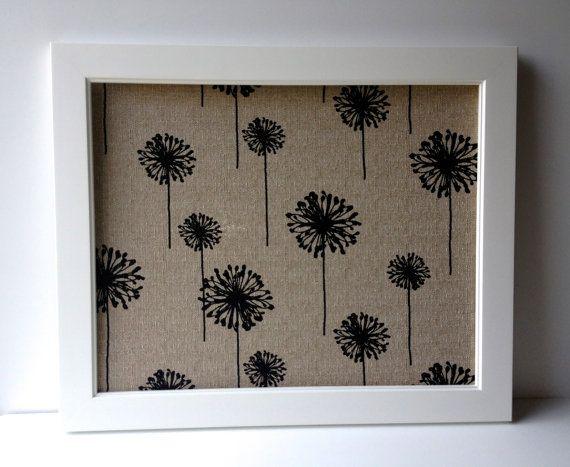 EXTRA LARGE magnetic bulletin board framed magnet by MarigoldHome, $124.00