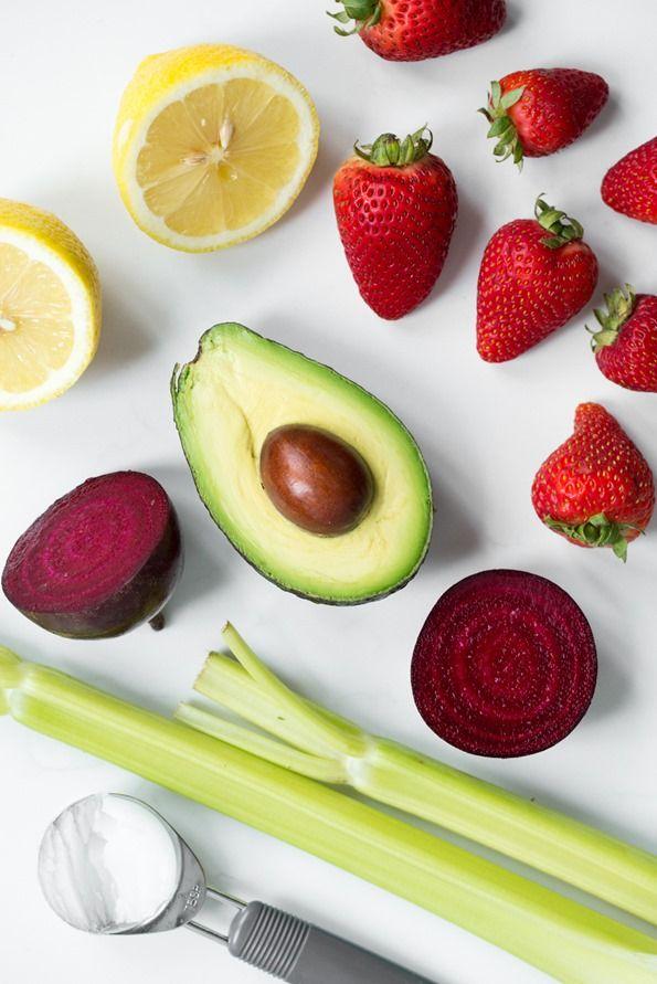 beetstrawberrysmoothie 9095   Introducing Vegan Glow + Pink Power Detox Smoothie Recipe