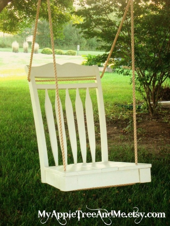 Awesome Ways To Reuse Your Broken Things!!  Tree swings made of broken chairs!