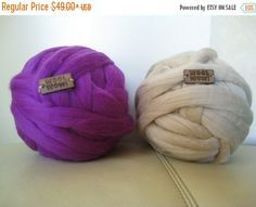 Giant Knitted Wool Big Yarn. 1 LB / 450 gr / 72 colors by woolWow