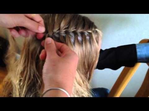 Waterval vlecht gecombineerd met de Ladder vlecht - YouTube