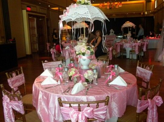 Elegant Gift Gallery Created This Baby Shower Umbrella Centerpiece And Provided All The Decor Shown In Photo Was At Tosca Marquee
