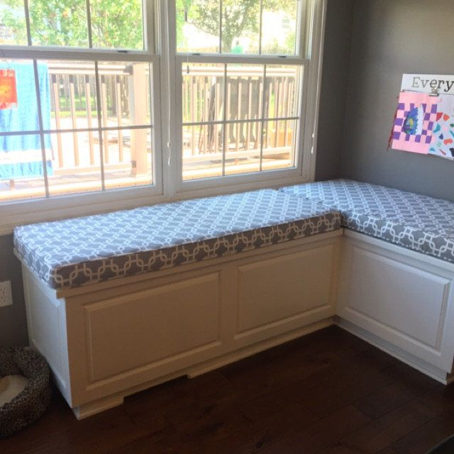 Made To Order Banquette Or Breakfast Nook Cushion And Cover Custom Made Cushion Banquette Cushions And Cover Sunbrella Kitchen Cushions Breakfast Nook Cushions Banquette Seating In Kitchen Nook Cushion