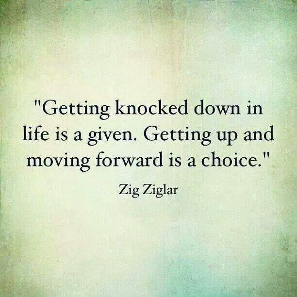 Let's never give up, no matter what life throws at us!