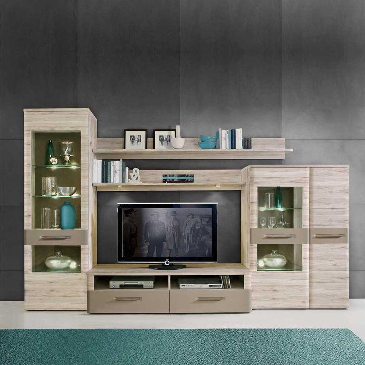 TV Wand In Eiche Optik Beleuchtung 5 Teilig Jetzt Bestellen Unter Moebelladendirektde Wohnzimmer Tv Hifi Moebel Waende Uid0bbe4975 C28a