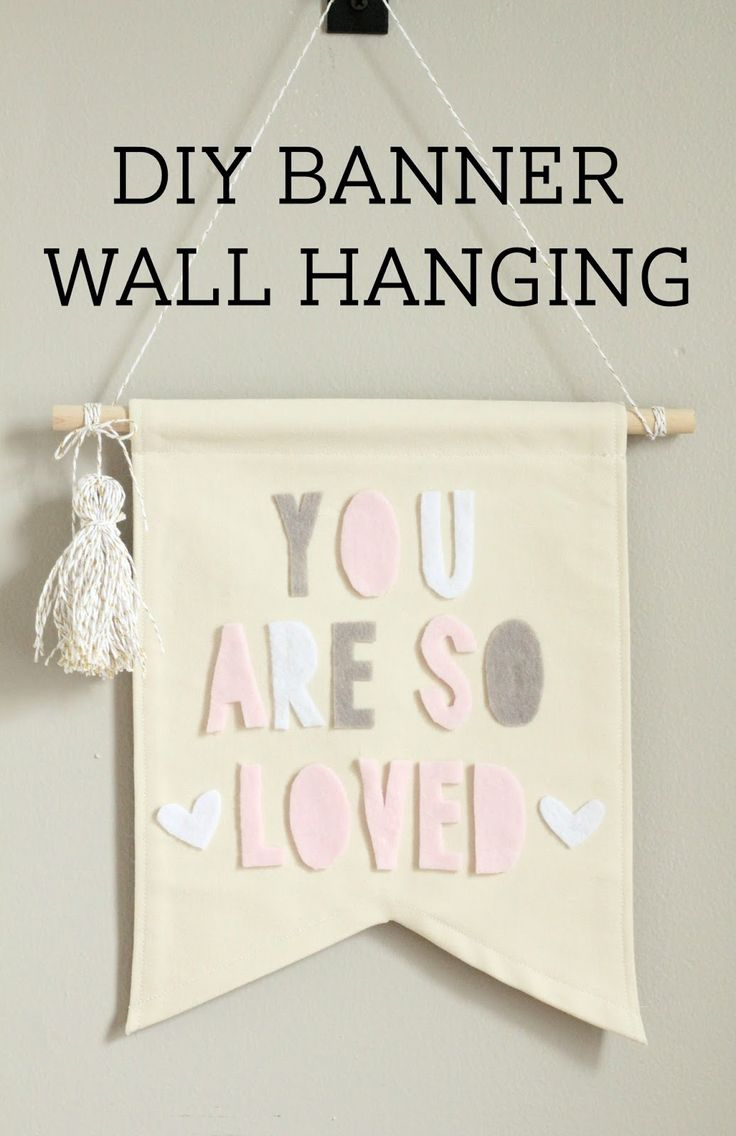 Lovely Little Life: DIY Canvas + Felt Banner Wall Hanging (with no sew option)