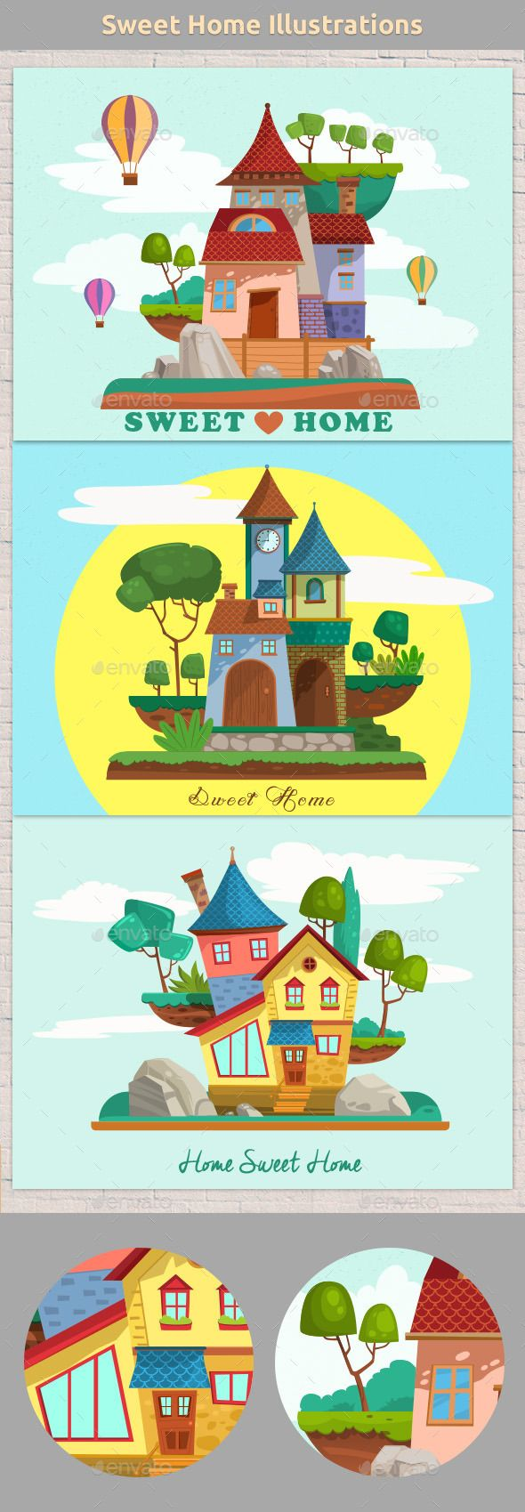 Sweet Home Illustrations