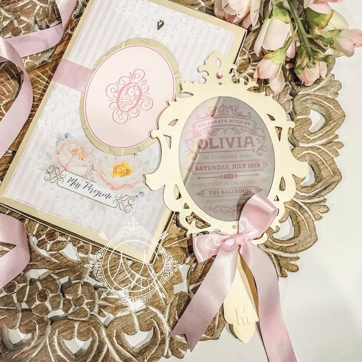 Because every girl deserves her own fairytale  Party Invitations - mirror invitations • princess invitations