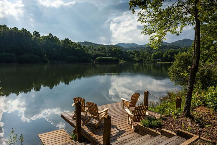 Mountainview Lake Retreat - Dock  Book through MOrning Breeze Cabin Rentals.com