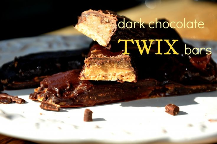 Healthified Home-Made Dark Chocolate Twix Bars by bewellwitharielle.com