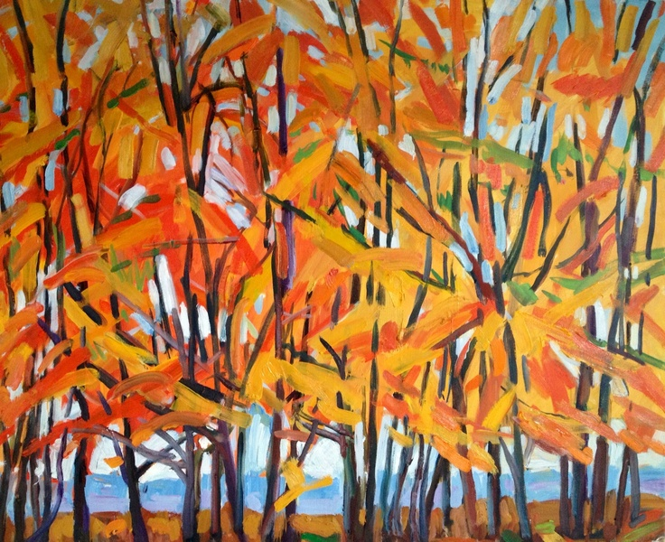 Yes.... This is one of a series of paintings I have made this winter.... Of beech trees on my walk on Fontmell Downs.....