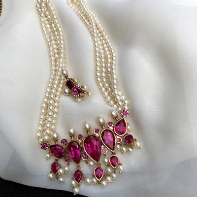 Pink Silver Tanmani