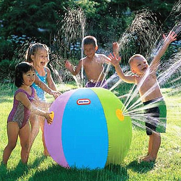 Children's Outdoor Swimming Beach Ball Inflatable Ball Water Fountain Ball #New