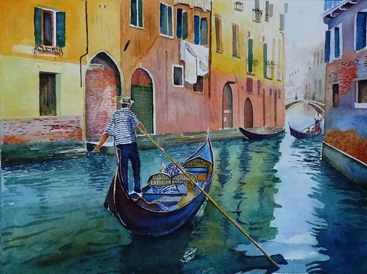Kanaal in Venetië 2