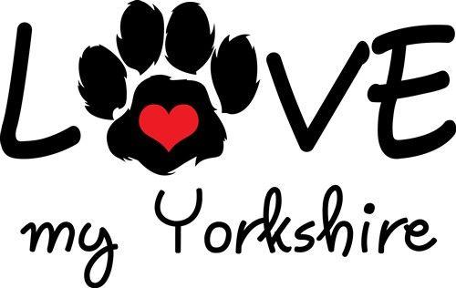 Download LOVE MY YORKSHIRE SVG file - Animals SVG Designs ...