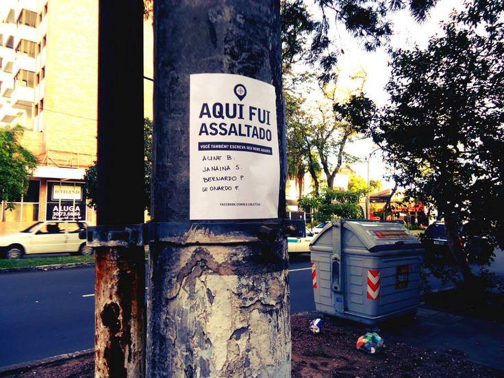 Um projeto adotado pela União dos Grêmios de Estudantes de Marília busca mapear os locais da cidade em que as pessoas tenham sido vítimas de assaltos.