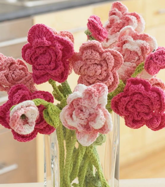 Crochet a bouquet that will last a lifetime! | Free pattern at Joann.comLilies Rose, Crochet Flower, Knits Crochet, Crochet Projects, Rose Bouquets, Needle Art, Crochet Pattern, Art Projects, Crafts