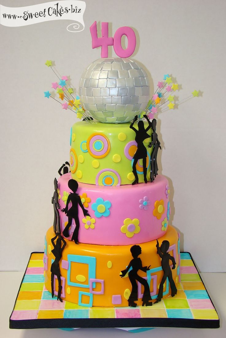 Disco Party Cake Images : Groocy Disco Birthday Cake 60s 70s Theme... Pinterest ...