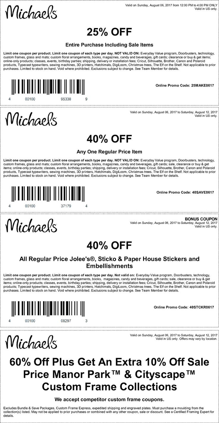 Pinned august 6th 40 off a single item more at michaels or