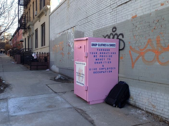 Don't Put Your Unwanted Clothes In Those Pink Bins... The clothes go to a for-profit company. Here's a list of non-profit places to drop off your used clothes!