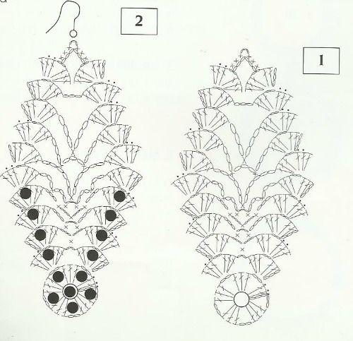 nel blog della marty: ORECCHINI BLU ALL'UNCINETTO + free pattern