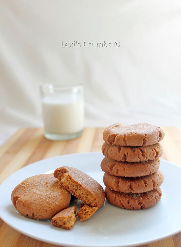Crunchy ginger biscuits www.lexiscrumbs.com