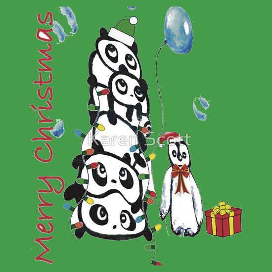 Kaz Art Creations Pandas & Penguin Christmas