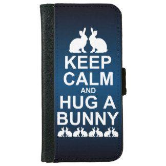 Houd Kalm en koester een (Blauw) Hoesje van de iPhone 5 Portefeuille Hoesje