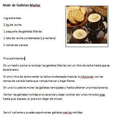 Atole de galletas Marias