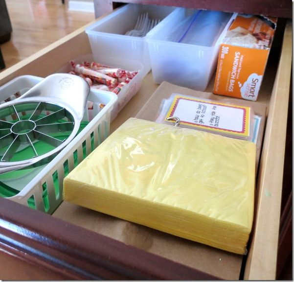 Creating an Organized Lunch Station   School Lunch Ideas For Kids   Living on Love and Cents
